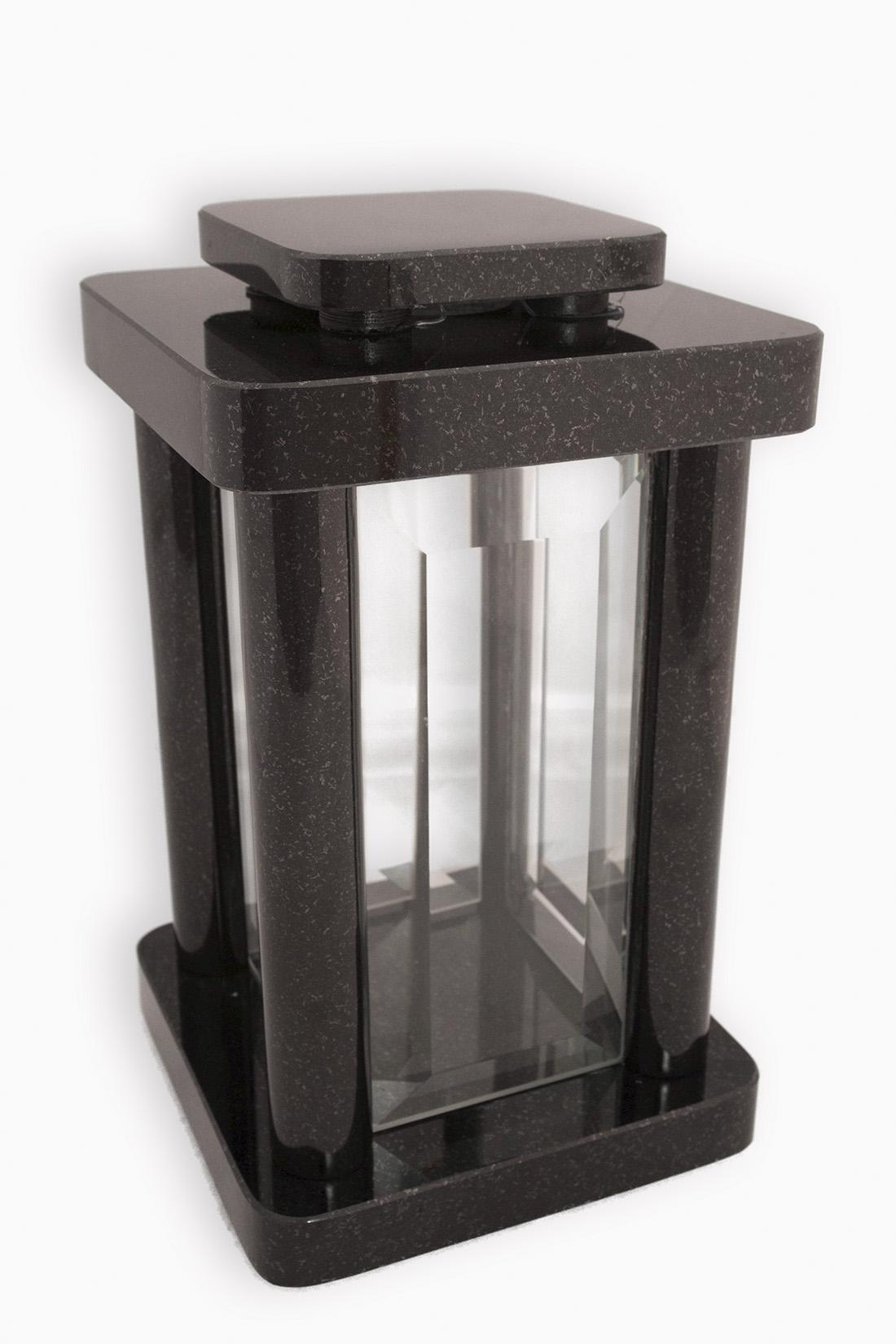 Accessoires grafmonument lantaarn zwart + glas (AS026)